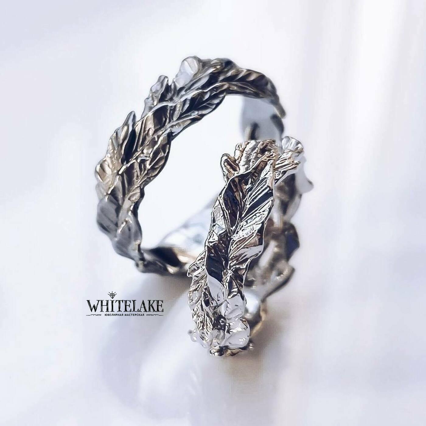 Обручальные кольца листья - купить по выгодной цене с доставкой от Whitelake